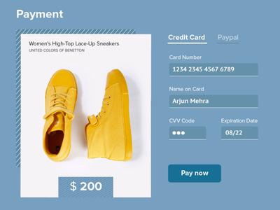 Credit Card Checkout illustration design ui