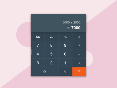 Calculator design illustration ui dailyui