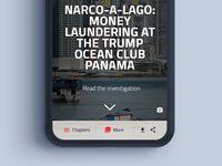 Long form mobile navigation