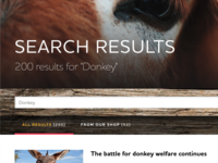 Donkey search listing