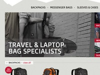 Outdoor bag brochure site preview