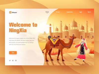 Ningxia river yellow mosque tower camel huis muslim islam desert hiwow