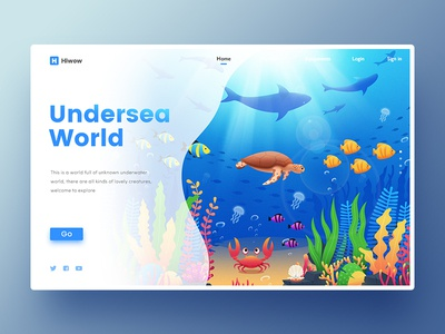 Undersea World coral pearl crab grass sea seaweed plant turtle fish hiwow world undersea
