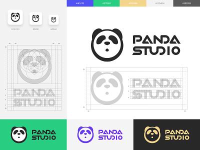 Panda Logo bear panda bear panda studio culture rule brand logo panda