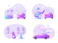 Parking App illustration