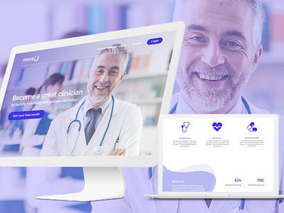 Mirrau Web UI - Udemy for doctors user interface design website home page landing page web ui udemy doctors mirra
