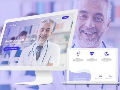 Mirrau Web UI - Udemy for doctors user interface design website home page landing page web ui udemy doctors mirra
