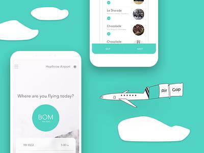 AIRGAP - Mobile App illustration adobexd airport explorer user interface design uiuxdesign airport app