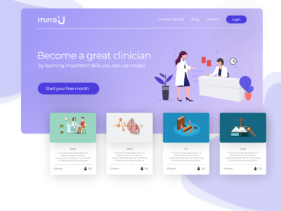 mirraU - Website Design