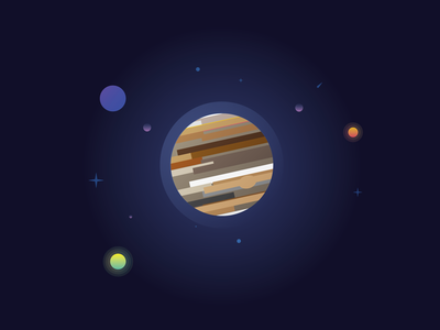 Jupiter Illustration graphicdesigner graphic design graphic art graphic design vector illustration
