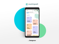 Mobile App Design: Counting Well workinprogress ux ui interaction design mobile app design mobile ui startups design user interface design uiuxdesign