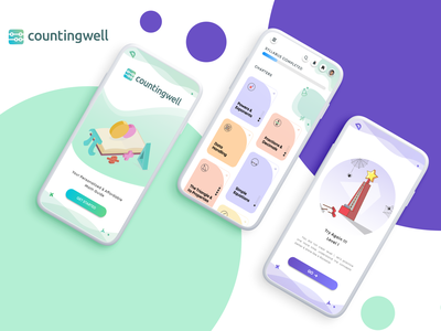 Counting Well: Personalized Learning Platform mobile app design mobile design mobile ui icon typography ux illustration design user interface design uiuxdesign ui