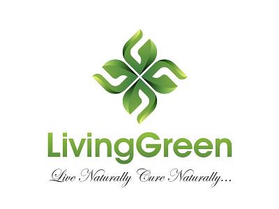 Living Green Logo lg green logo minimalist typography adarshthambi branding minimal logo