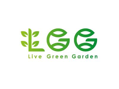 Live Green Garden Logo adarshthambi branding nursery garden green design minimal vector logo