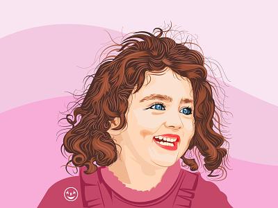 smile illustration adarshthambi illustrator smile digital illustration digital art digital portrait art illustration