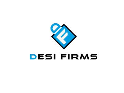 logo design for Desi firms adarshthambi branding icon app ecommerce df minimal logo
