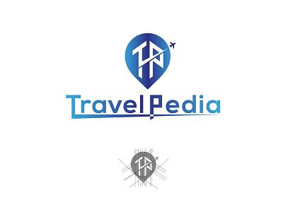 logo design for travel pedia illustration minimal adarshthambi tp icon travel branding logo