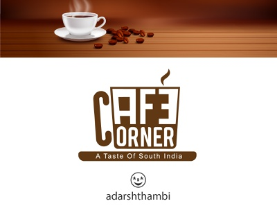 Logo for cafe brand. creative adarshthambi coffeeshop cafe logo café cafe illustration branding logo