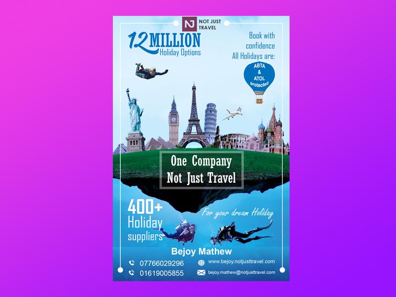 Flyer design , Photoshop manipulation brochure design brochure vector ui adarshthambi logo travel flyers flyer design flyer