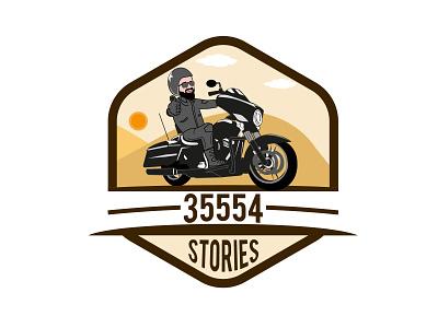 harley rider logo mascot harley davidson harley minimal vector illustration branding logo
