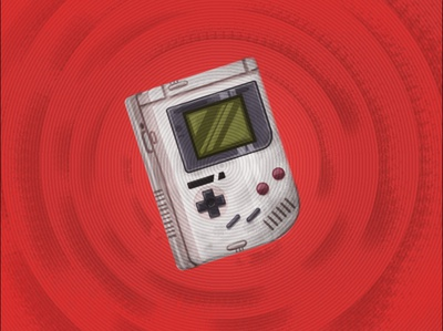 Game boy texture photoshop vector illustraion
