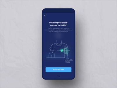 Monitoring system for early detection of heart failure heart rate health website app motion motion graphics prototype ux ui mobile