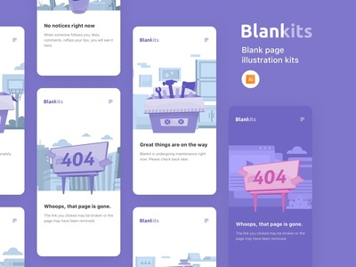 Blankits - Blank page illustration kits