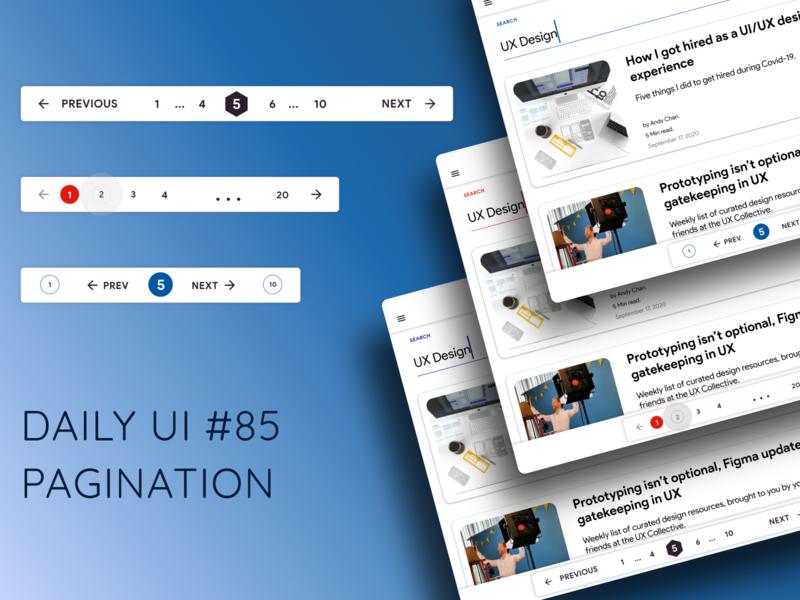 Daily UI Challenge #85 Pagination minimal design daily ui dailyui app uxdesign ui ux uidesign dailyuichallenge daily 100 challenge