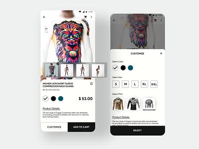 Daily UI Challenge #33 Customize Product minimal design daily ui dailyui app uxdesign ux uidesign ui dailyuichallenge daily 100 challenge