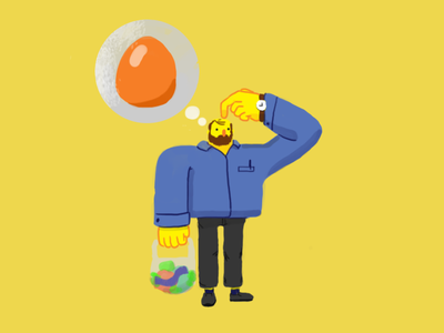 What Did I Forgot grocerys keys life beardman eggs photoshop daily life illustration