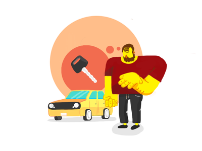 Forgot my carkeys keys life daily life beardman car photoshop illustration