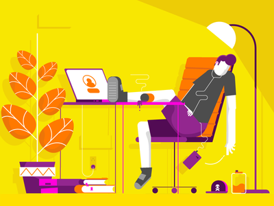 Lazy Day daily vector vectorart 2d illustration