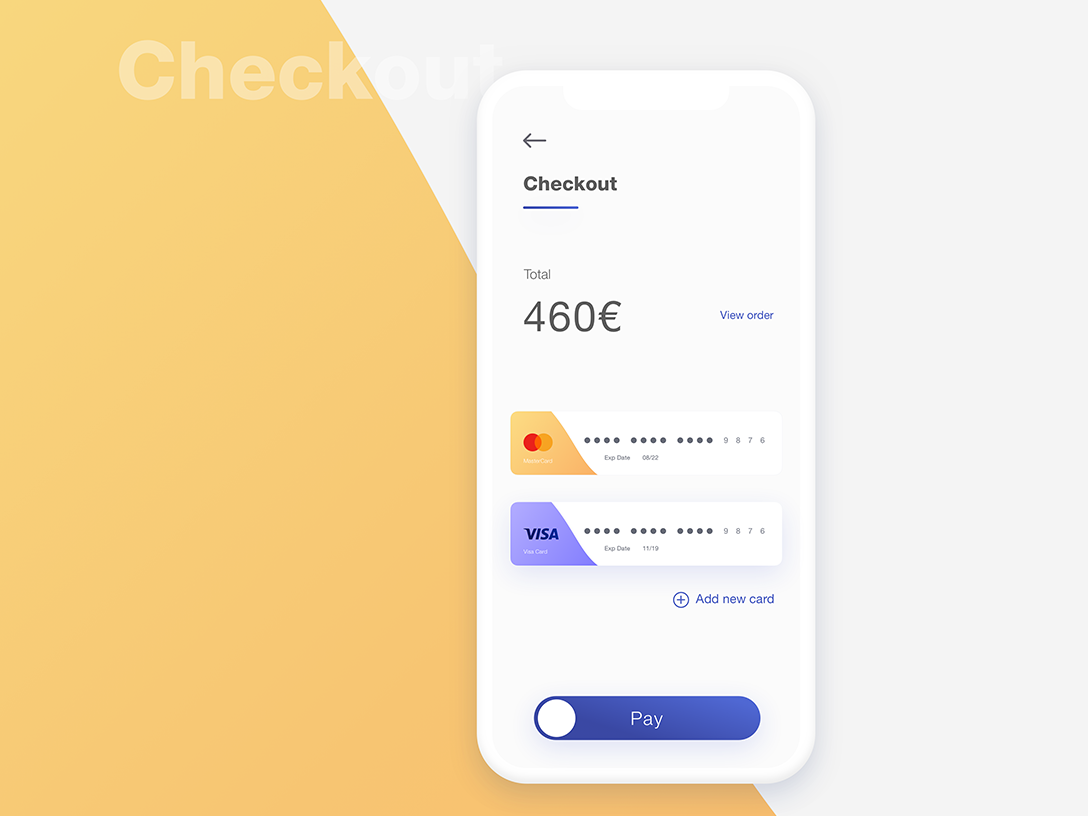 Daily UI Challenge #002 - Checkout Page app design ui dailyui