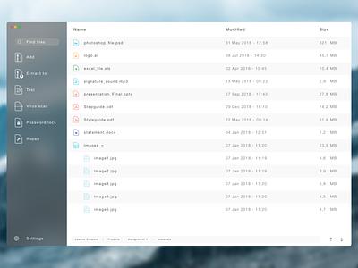 Compression tool concept minimalistic app ui design