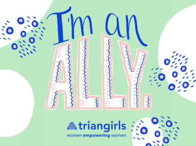 Triangirls Allyship Illustration