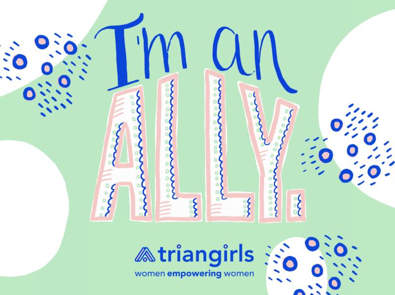 Triangirls Allyship Illustration sketch doodle design women illustration