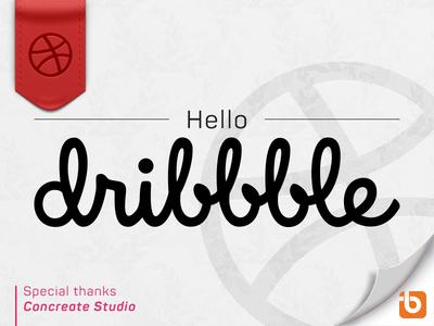 Hello dribbble concreatestudio hellodribbble