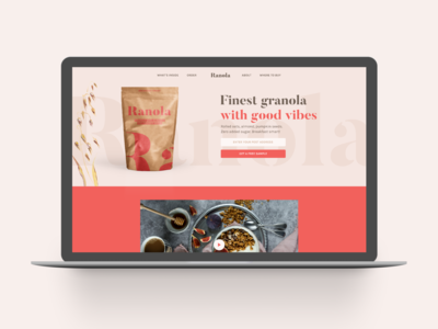 Landing page for granola