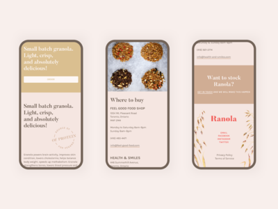 Ranola mobile layouts, part two