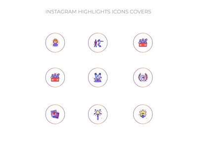 Instagram Highlights Icons covers