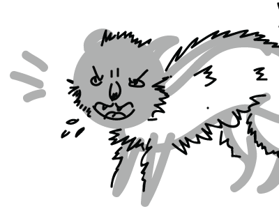 Angry Cat Sketch