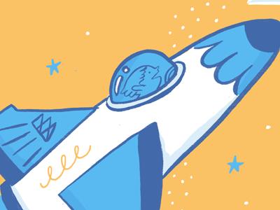 Editorially Rocket illustration tuesday bassen ink brush digital