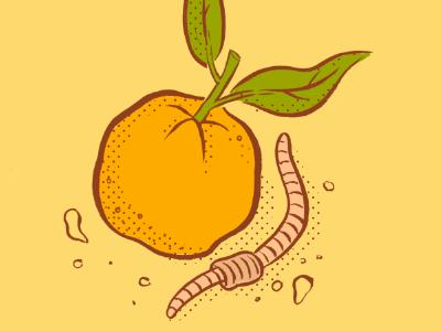 Orange and Earthworm