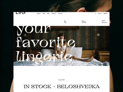 LVG lingerie store design concept trend ux ui fashion e-commerce ecommerce lingerie design simple web web-design