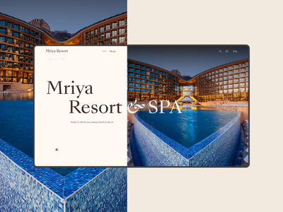 Mriya Resort & SPA hotel pool spa hotel design simple trend flat ux web web-design ui