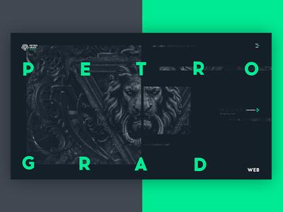 PetrogradWeb agency flat web brand ux ui trend simple