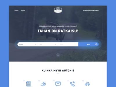 Pika Hinta Autollesi  car ux ui landing kit icons flat finland dealer auto ad