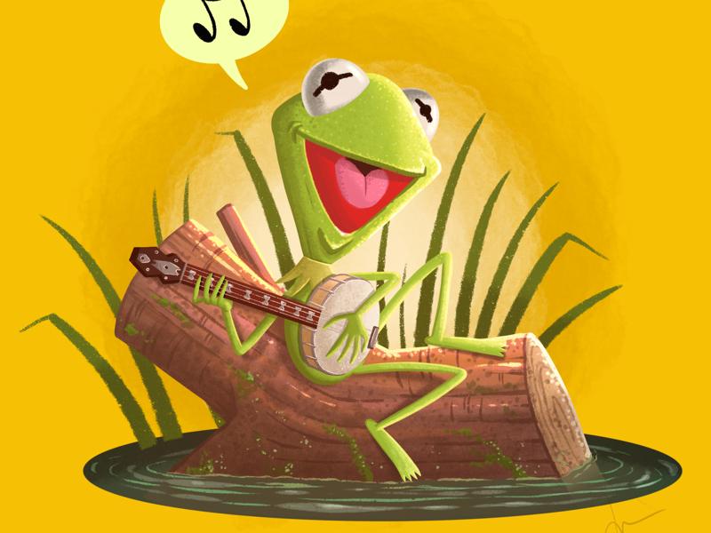 Rainbow Connection rainbow frog procreate muppets muppet kermit