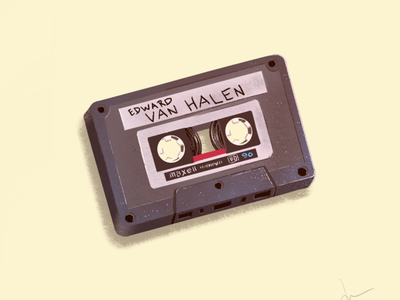Silence, Earthling! van halen tapes music drawing procreate illustration prop back to the future