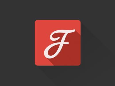 Google Fonts flat longshade icon